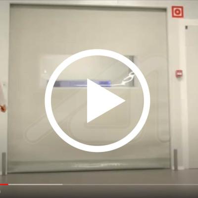 High speed door for clean rooms