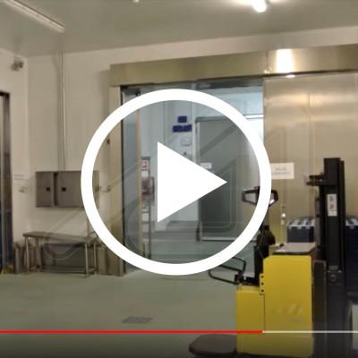 Corfire fire resistant sliding door