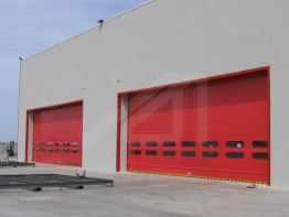 Fold up high speed doors