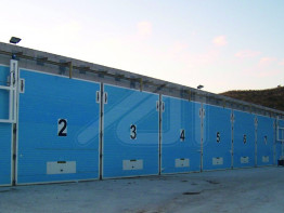 Industrial doors for composting plants