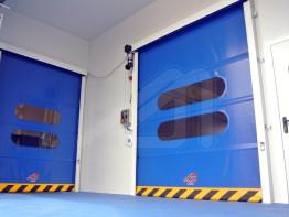 Roll up high speed doors