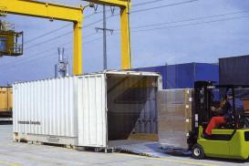 Pasarela transportable para contenedores