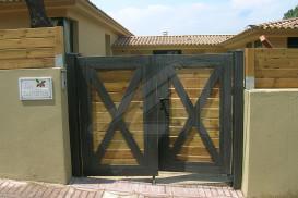 Special designs of swing garage doors