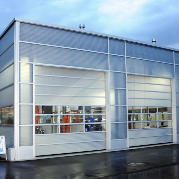 Fold up sectional door Spacelite HT40