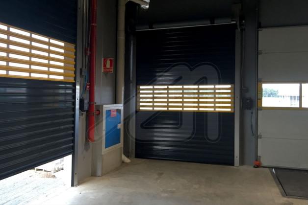 puerta enrollable ligera aluminio
