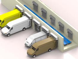 Conjunto de muelle de carga para furgonetas