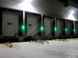 System of smart shelters with led lighting for loading docks - SIGNAL SHELTER
