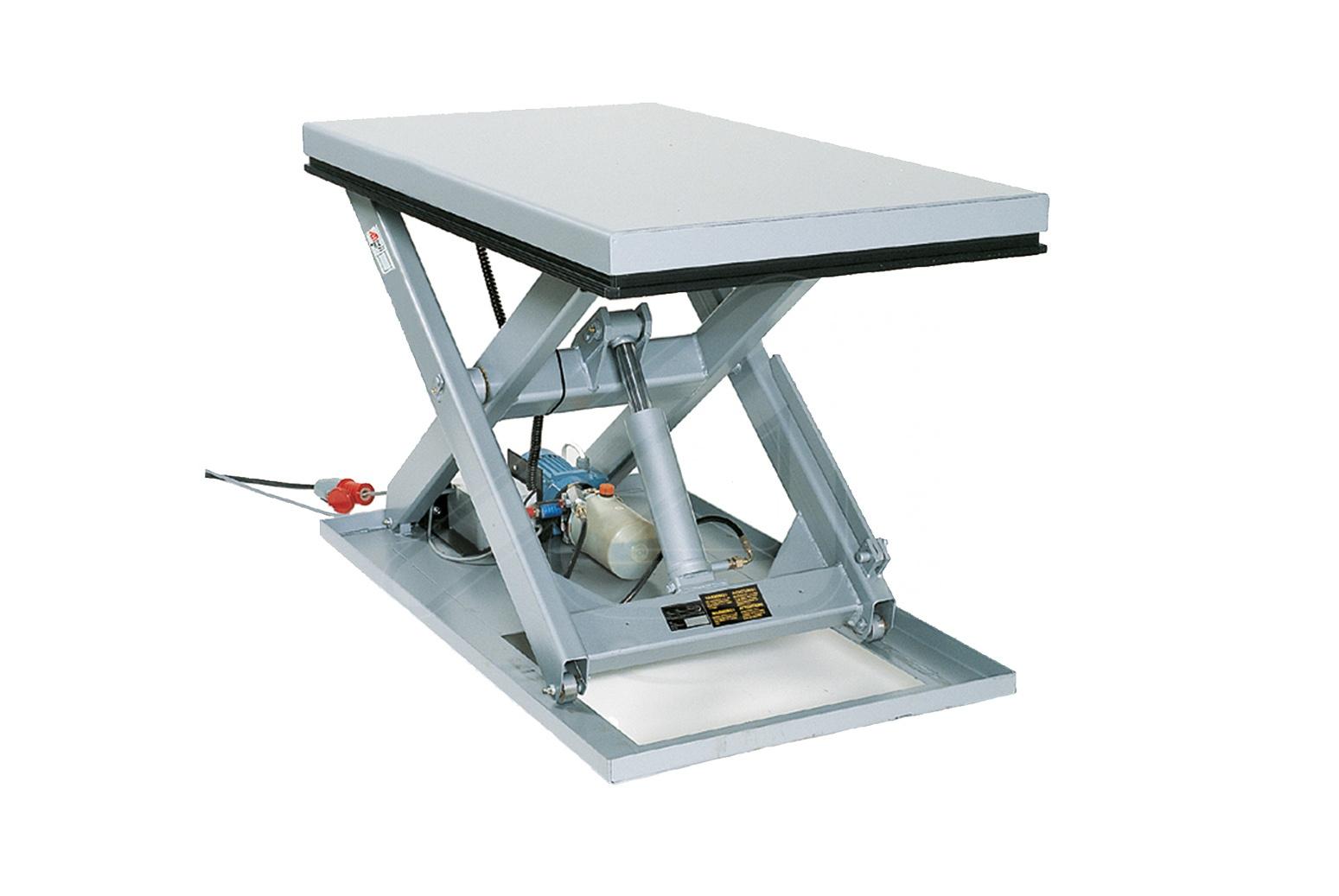 Simple scissors lifting tables
